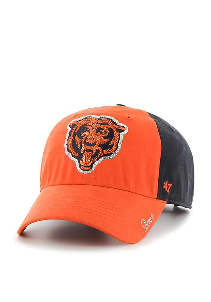 '47 Chicago Bears Navy Blue Sparkle Two Tone Womens Adjustable Hat - Image 1