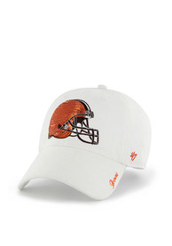 47 Cleveland Browns Womens White Sparkle Adjustable Hat