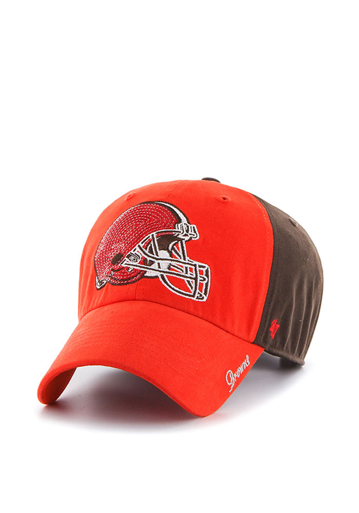 '47 Cleveland Browns Orange Sparkle Two Tone Womens Adjustable Hat - Image 1