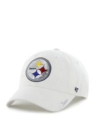 47 Pittsburgh Steelers Womens White Sparkle Adjustable Hat