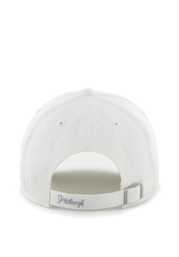 '47 Pittsburgh Steelers White Sparkle Womens Adjustable Hat - Image 2