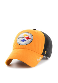 47 Pittsburgh Steelers Womens Black Sparkle Two Tone Adjustable Hat