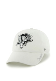 47 Pittsburgh Penguins Womens White Sparkle Adjustable Hat