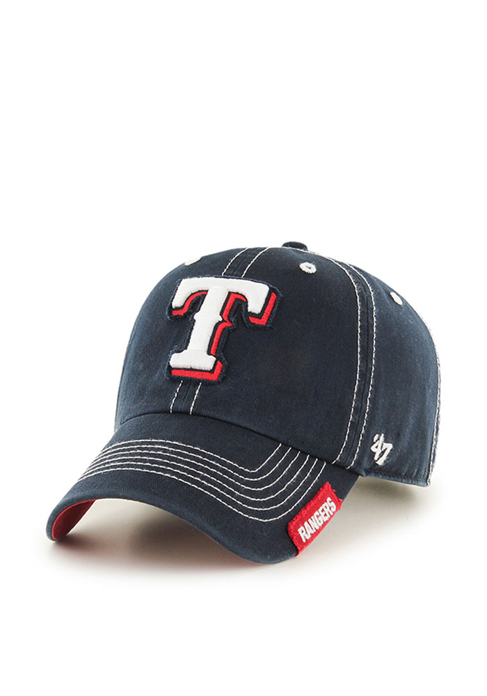 '47 Texas Rangers Mens Navy Blue Rockwell Adjustable Hat - Image 1