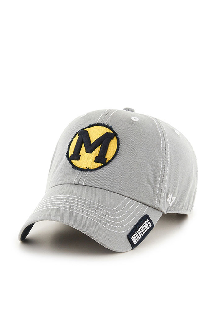 '47 Michigan Wolverines Mens Grey Vault Rockwell Adjustable Hat - Image 1
