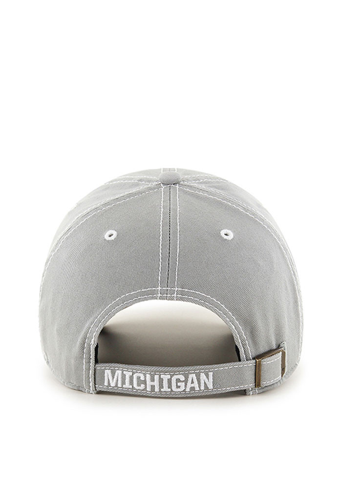 '47 Michigan Wolverines Mens Grey Vault Rockwell Adjustable Hat - Image 2