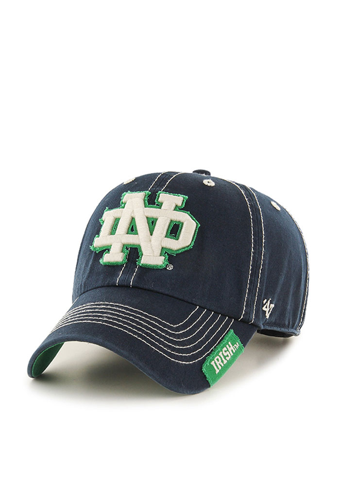 '47 Notre Dame Fighting Irish Mens Navy Blue Vault Rockwell Adjustable Hat - Image 1