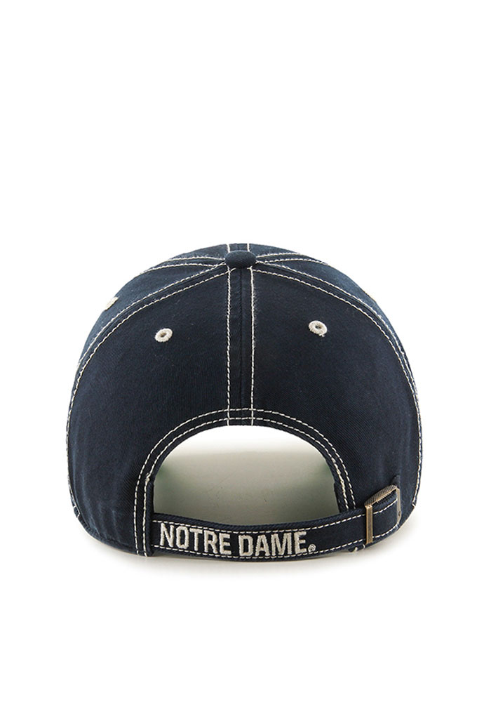 '47 Notre Dame Fighting Irish Mens Navy Blue Vault Rockwell Adjustable Hat - Image 2