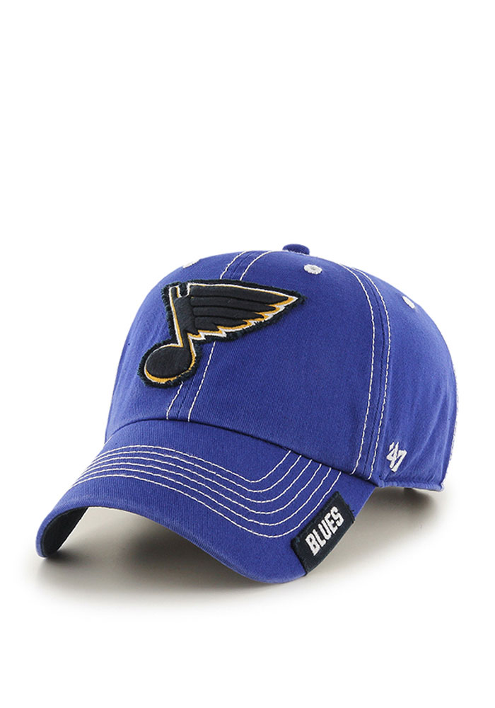 '47 St Louis Blues Mens Blue Rockwell Adjustable Hat - Image 1
