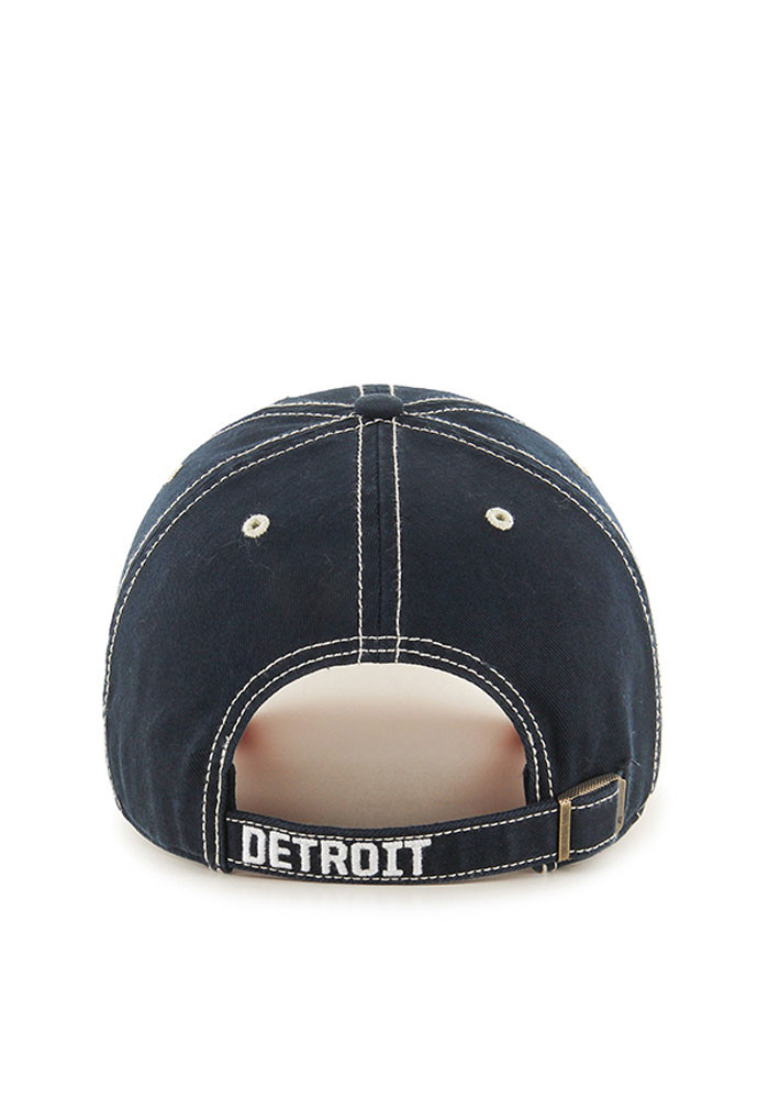 '47 Detroit Tigers Mens Navy Blue Retro Rockwell Adjustable Hat - Image 2