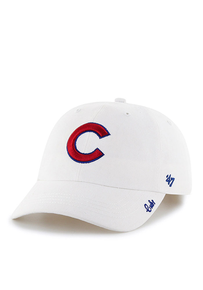 '47 Chicago Cubs White Miata Womens Adjustable Hat - Image 1