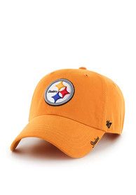 47 Pittsburgh Steelers Womens Gold Miata Adjustable Hat