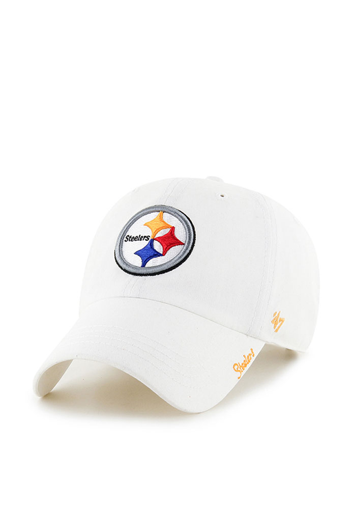 '47 Pittsburgh Steelers White Miata Womens Adjustable Hat - Image 1