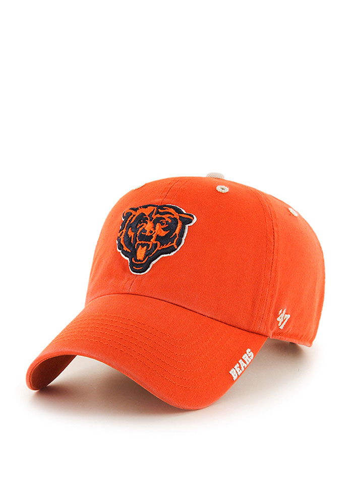 '47 Chicago Bears Ice Clean Up Adjustable Hat - Orange - Image 1