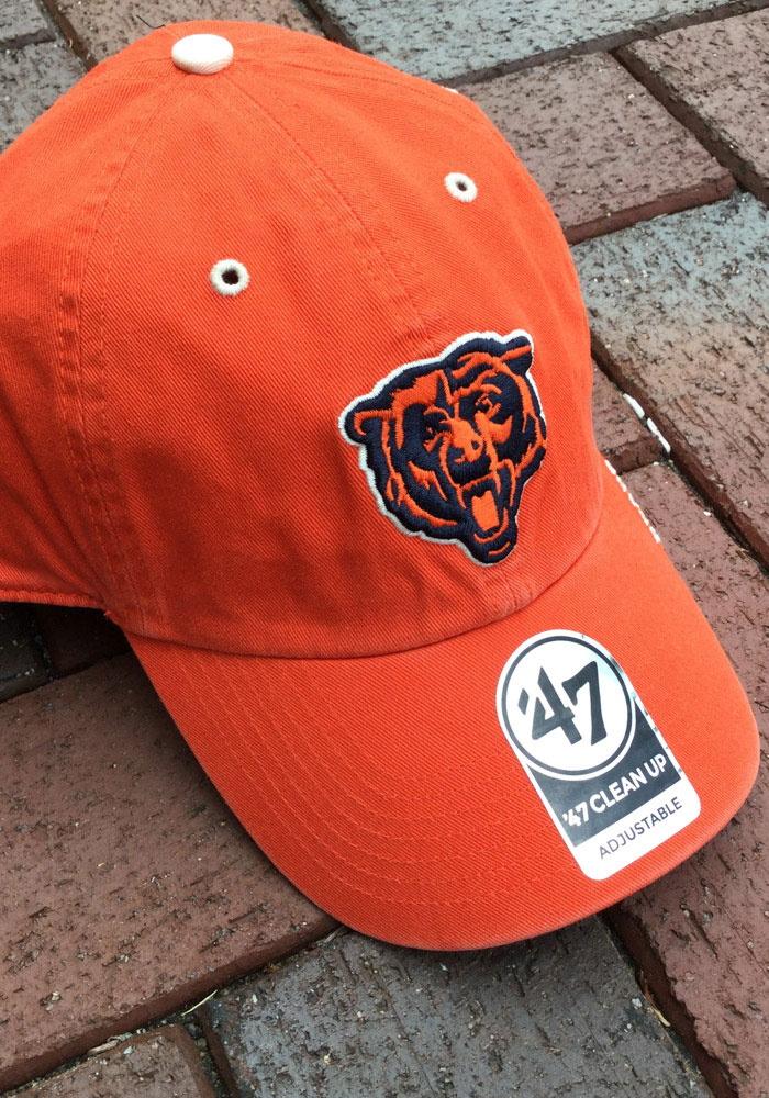 '47 Chicago Bears Ice Clean Up Adjustable Hat - Orange - Image 3