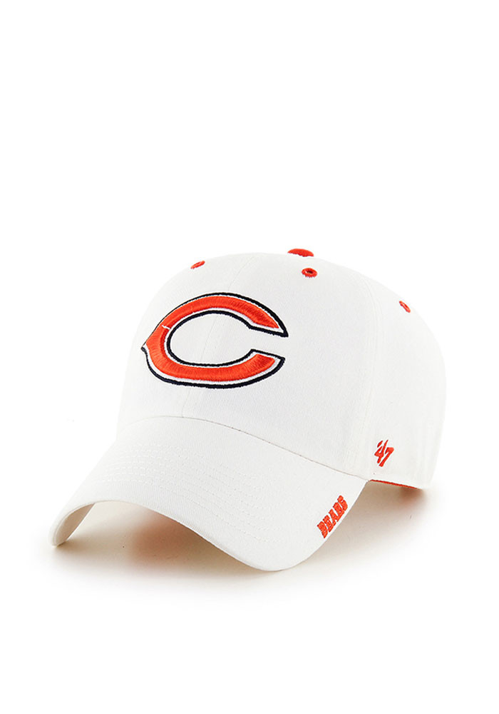 '47 Chicago Bears Mens White Ice Clean Up Adjustable Hat - Image 1