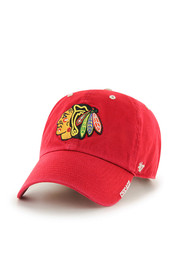 Chicago Blackhawks 47 Ice Clean Up Adjustable Hat - Red