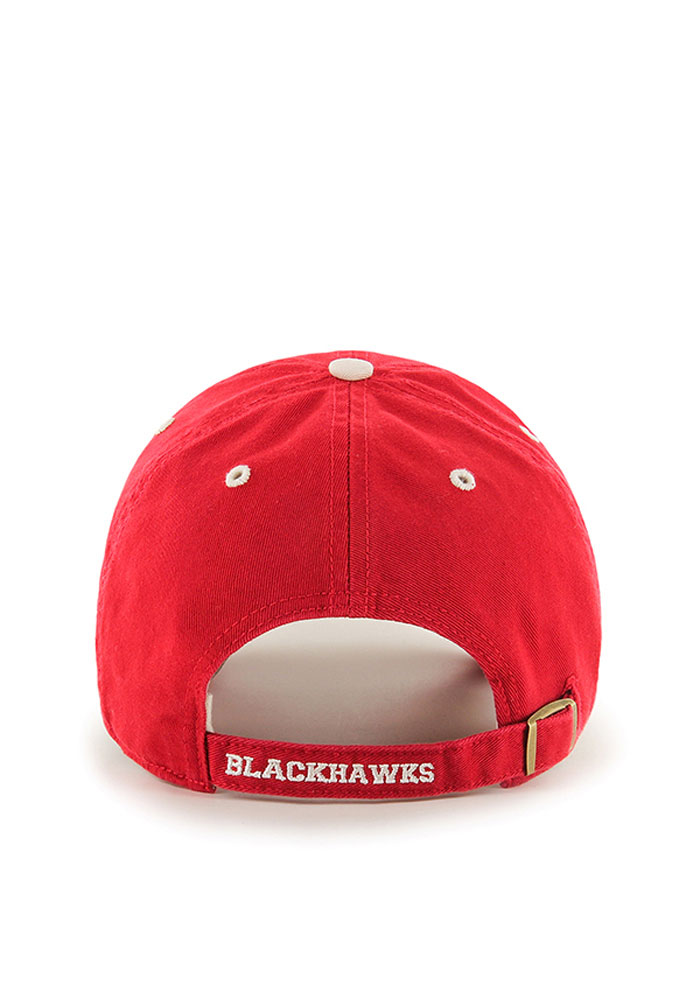 '47 Chicago Blackhawks Mens Red Ice Clean Up Adjustable Hat - Image 2