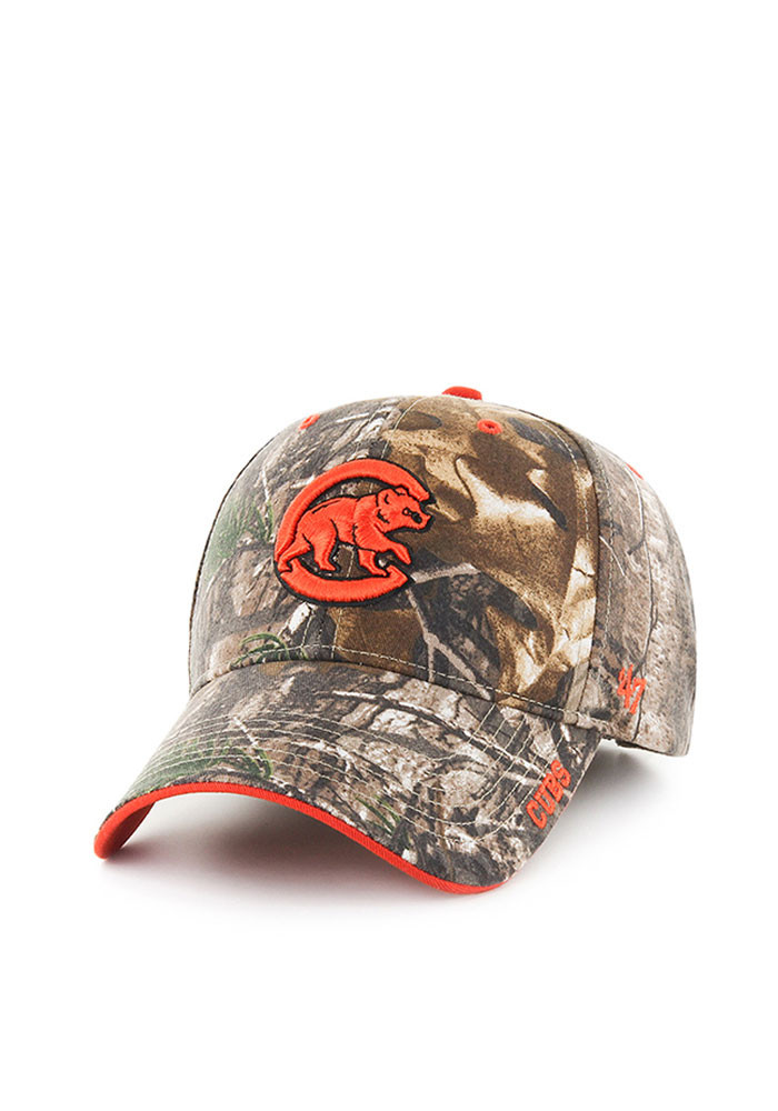 '47 Chicago Cubs Mens Green RealTree Frost MVP Adjustable Hat - Image 1
