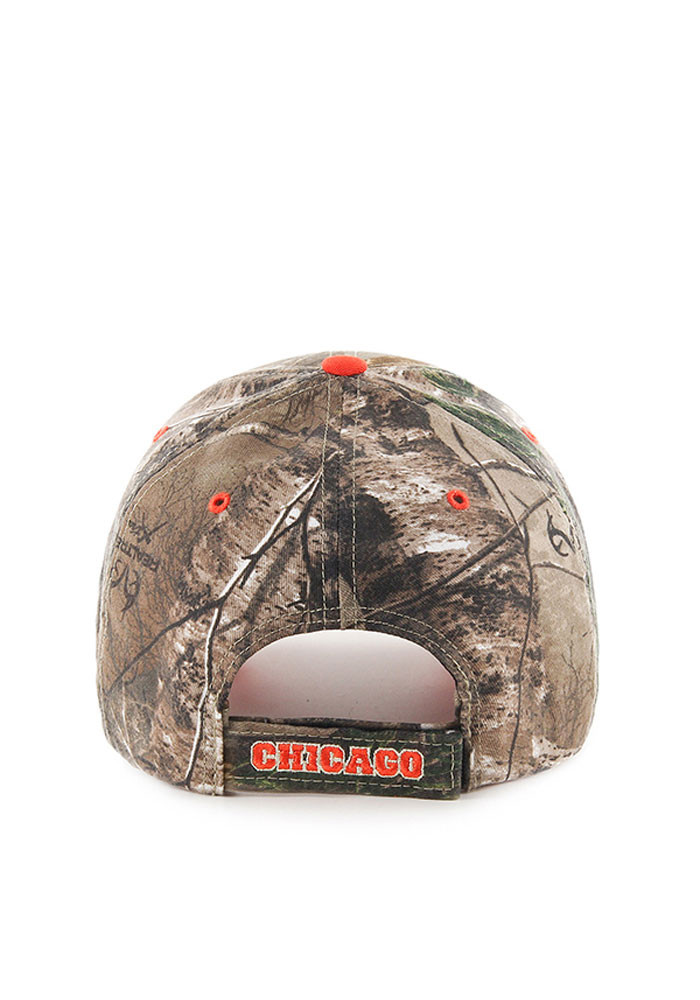 '47 Chicago Cubs Mens Green RealTree Frost MVP Adjustable Hat - Image 2