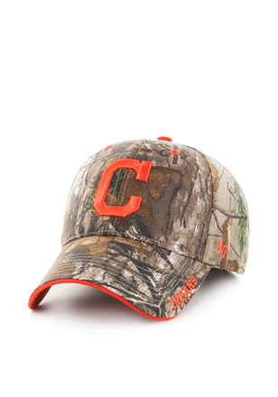 '47 Cleveland Indians Mens Green RealTree Frost MVP Adjustable Hat