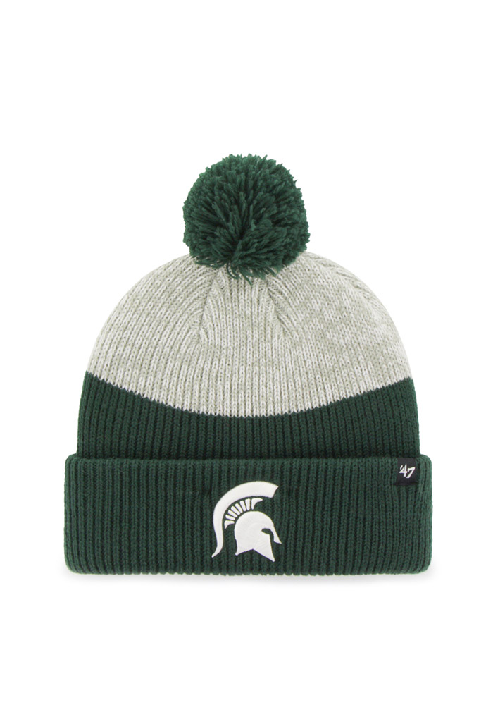 '47 Michigan State Spartans Green Backdrop Mens Knit Hat - Image 1