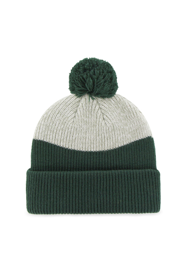 '47 Michigan State Spartans Green Backdrop Mens Knit Hat - Image 2