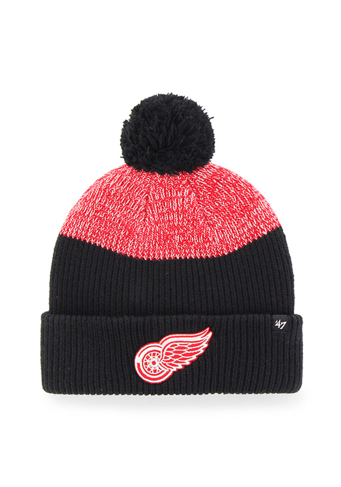 '47 Detroit Red Wings Black Backdrop Mens Knit Hat - Image 1