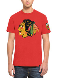 47 Chicago Blackhawks Red Crosstown 2 Peat Scrum Fashion Tee