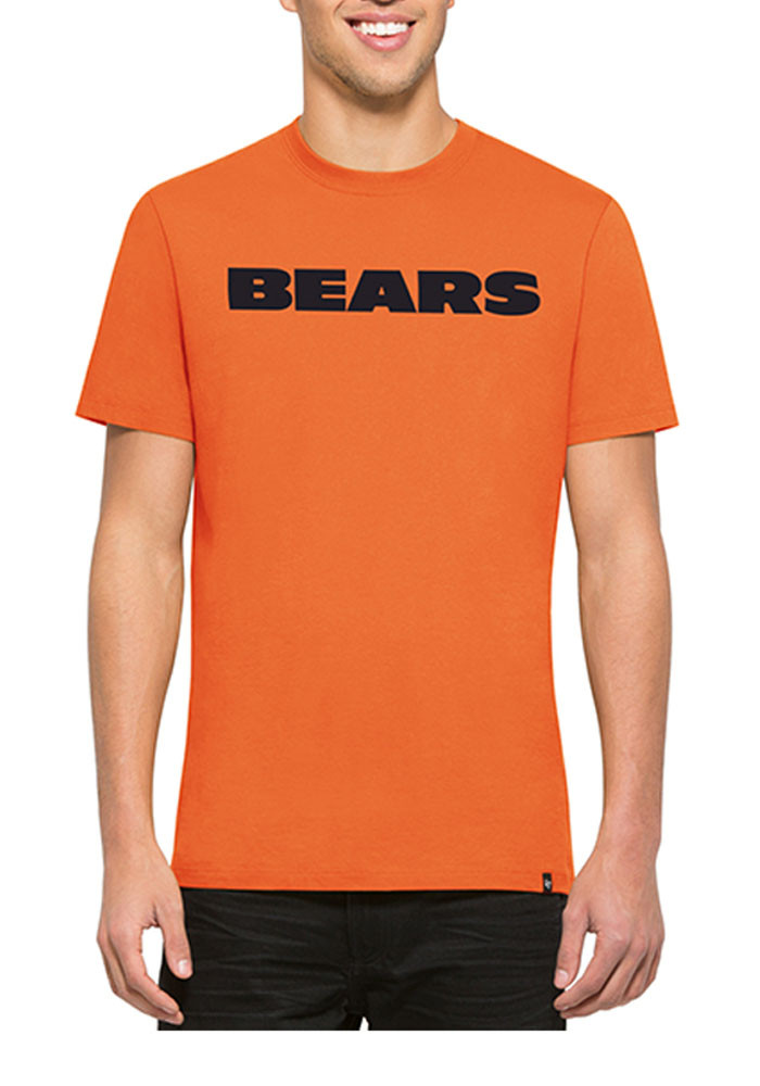 '47 Chicago Bears Mens Orange Flanker MVP Short Sleeve Fashion T Shirt - Image 1