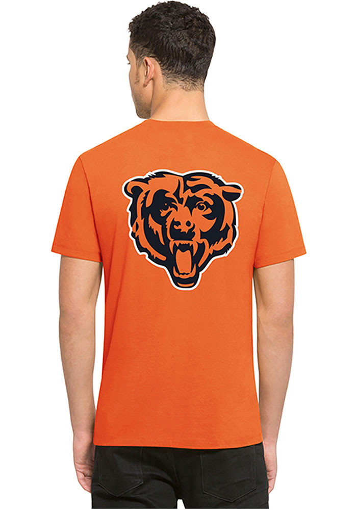'47 Chicago Bears Mens Orange Flanker MVP Short Sleeve Fashion T Shirt - Image 3