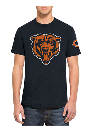 '47 Chicago Bears Mens Navy Blue Two Peat Scrum Fashion Tee