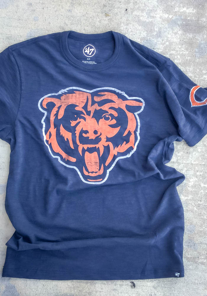 47 Chicago Bears Navy Blue Two Peat Short Sleeve Fashion T Shirt - Image 2