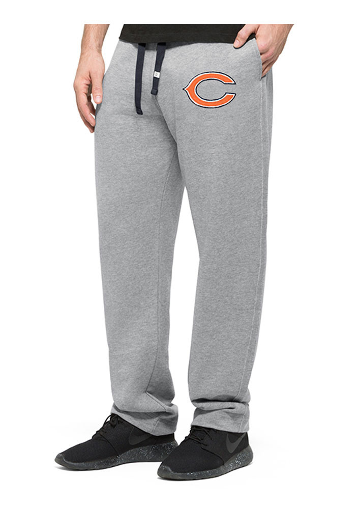 '47 Chicago Bears Mens Grey Varsity Warmup Fashion Sweatpants - Image 1