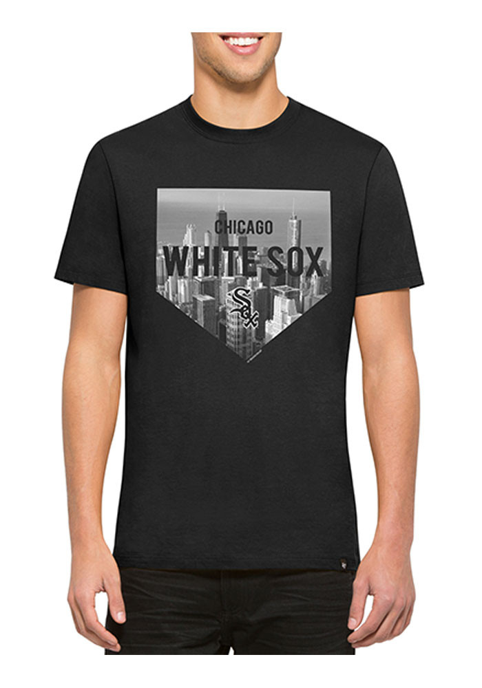 '47 Chicago White Sox Mens Black Crosstown Flanker Short Sleeve Fashion T Shirt - Image 1