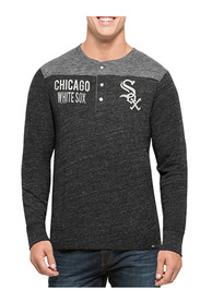 47 Chicago White Sox Black Neps Henley Fashion Tee