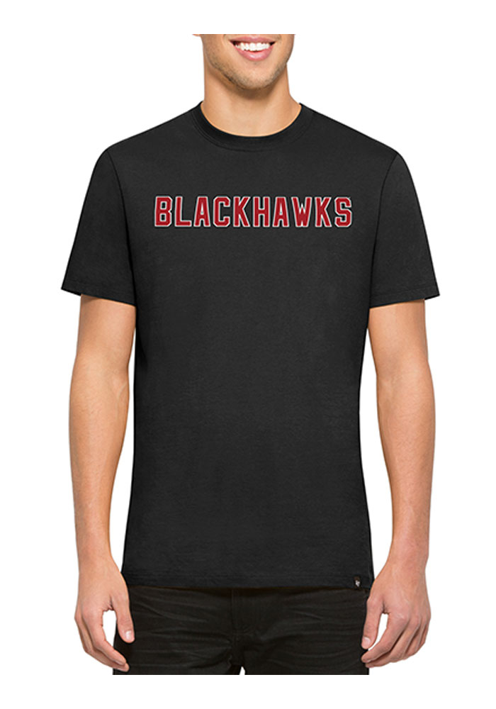 47 Chicago Blackhawks Black Flanker MVP Short Sleeve Fashion T Shirt - Image 1