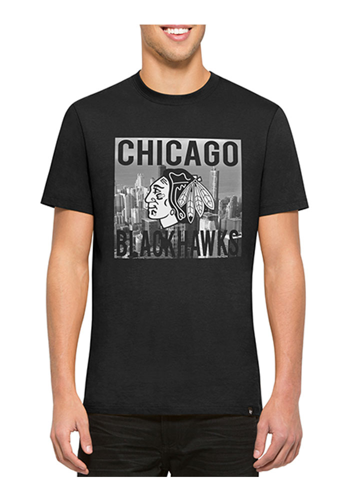 47 Chicago Blackhawks Black Crosstown Flanker Short Sleeve Fashion T Shirt - Image 1