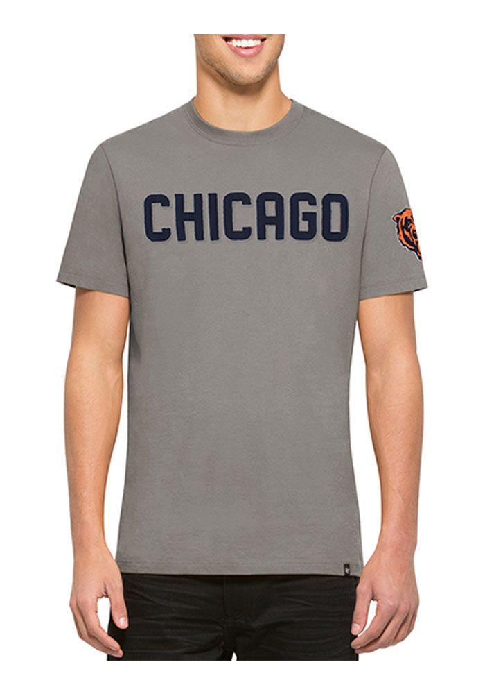 47 Chicago Bears Navy Blue Fieldhouse Short Sleeve Fashion T Shirt - Image 1