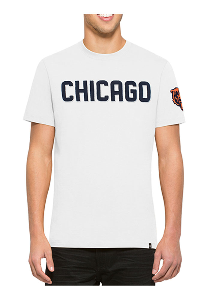 47 Chicago Bears White Fieldhouse Short Sleeve Fashion T Shirt - Image 1