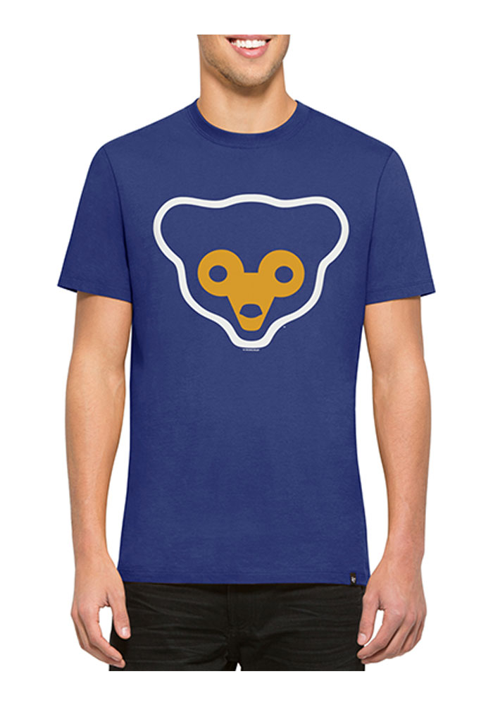 '47 Chicago Cubs Mens Blue Crosstown Flanker Short Sleeve Fashion T Shirt - Image 1