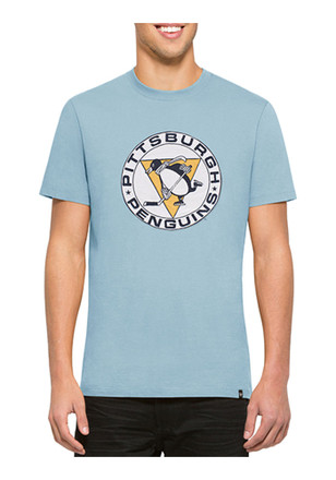 '47 Pittsburgh Penguins Mens Light Blue Knockout Tee Fashion Tee