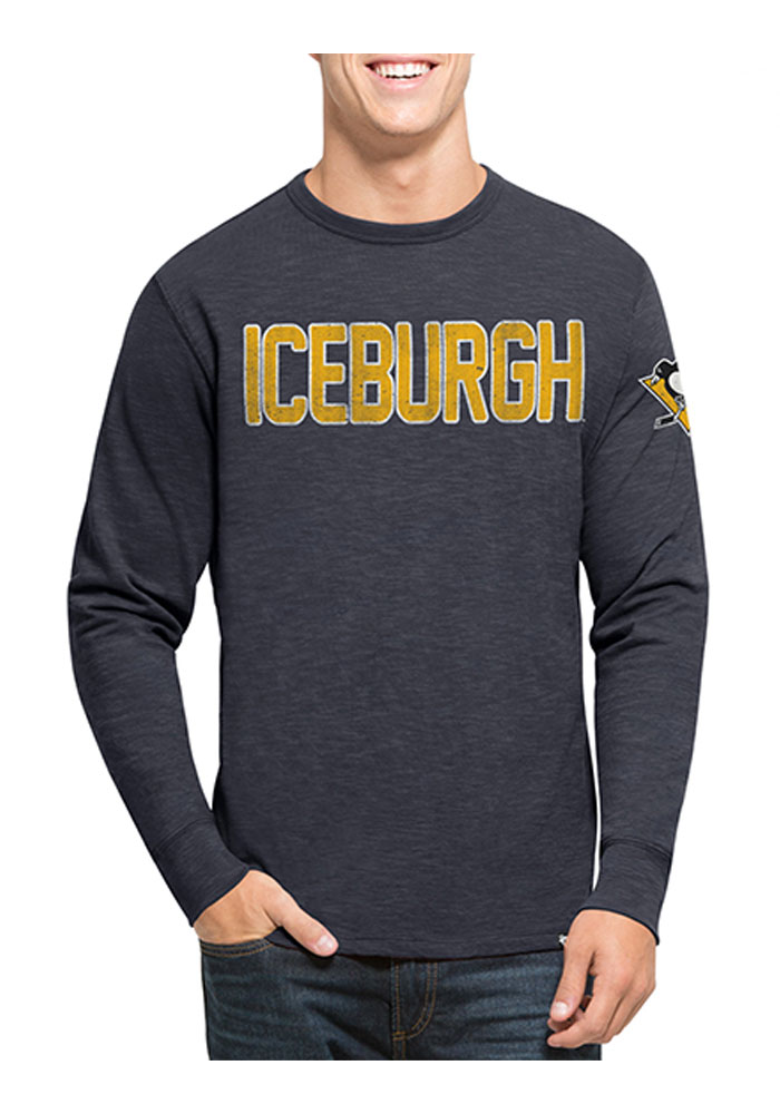 47 Pittsburgh Penguins Navy Blue Two Peat Long Sleeve Fashion T Shirt - Image 1