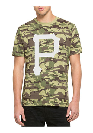 '47 Pittsburgh Pirates Mens Green Alpha Tee Fashion Tee