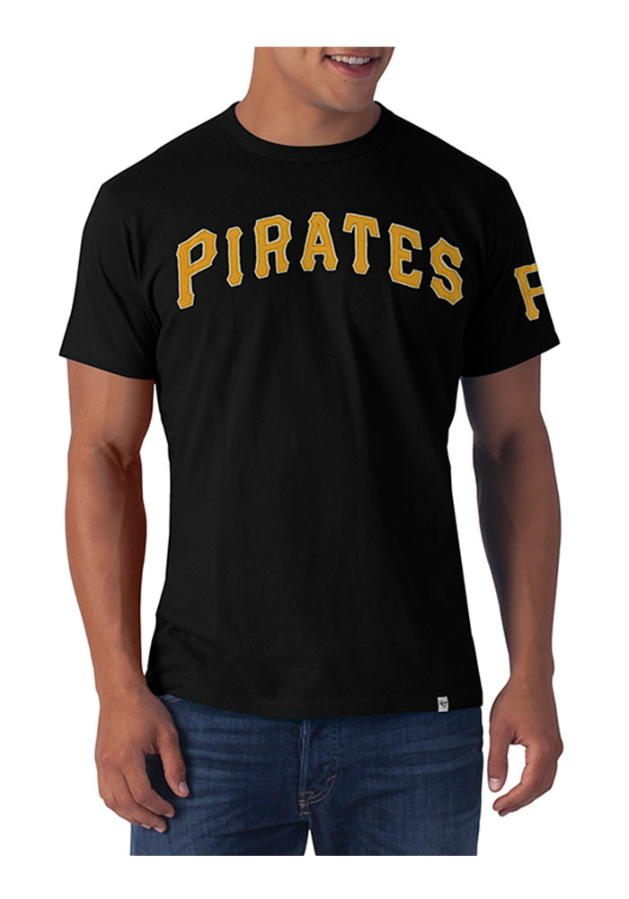 '47 Pittsburgh Pirates Mens Black Fieldhouse Tee Short Sleeve Fashion T Shirt - Image 1