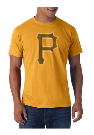 '47 Pittsburgh Pirates Mens Gold Flanker Tee Fashion Tee