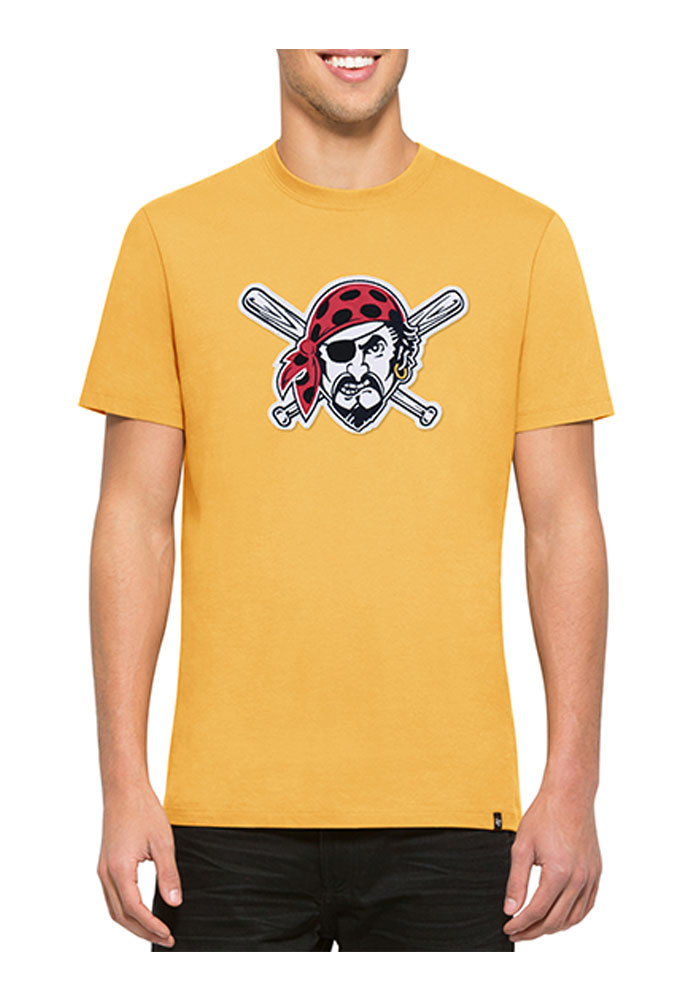 47 Pittsburgh Pirates Gold Knockout Short Sleeve Fashion T Shirt - Image 1