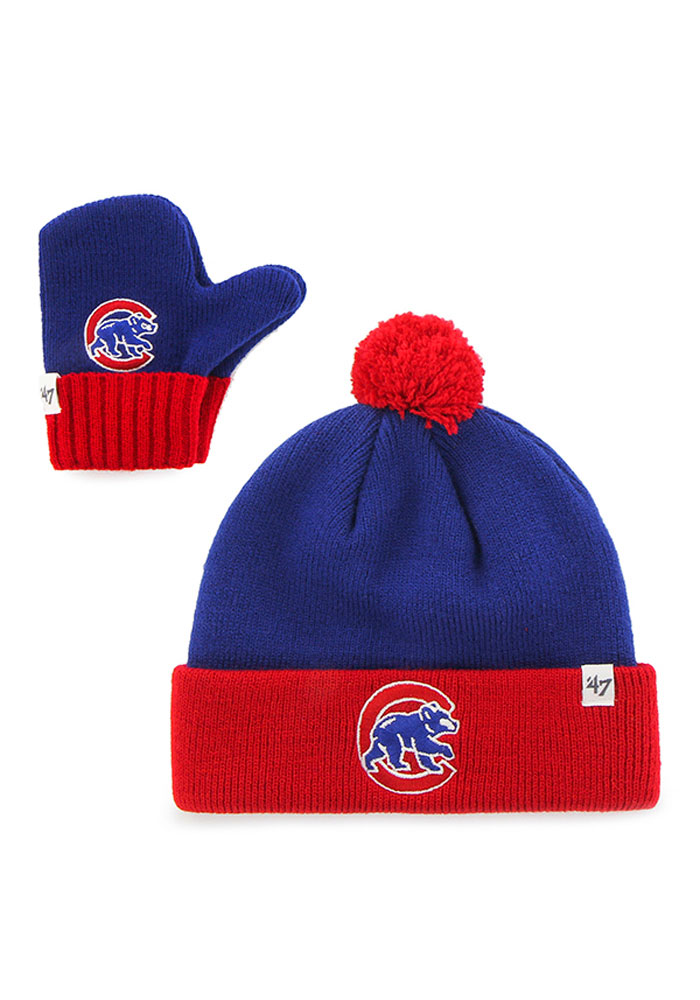 47 Chicago Cubs Bam Bam Baby Knit Hat - Blue - Image 1