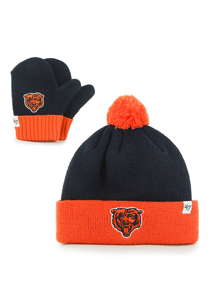 '47 Chicago Bears Navy Blue Bam Bam Baby Knit Hat - Image 1