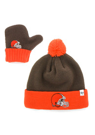 47 Cleveland Browns Bam Bam Baby Knit Hat - Brown